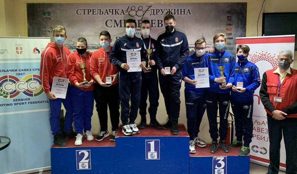 Нове медаље и државни рекорд за стрелце Стрељачког клуба Војне академије