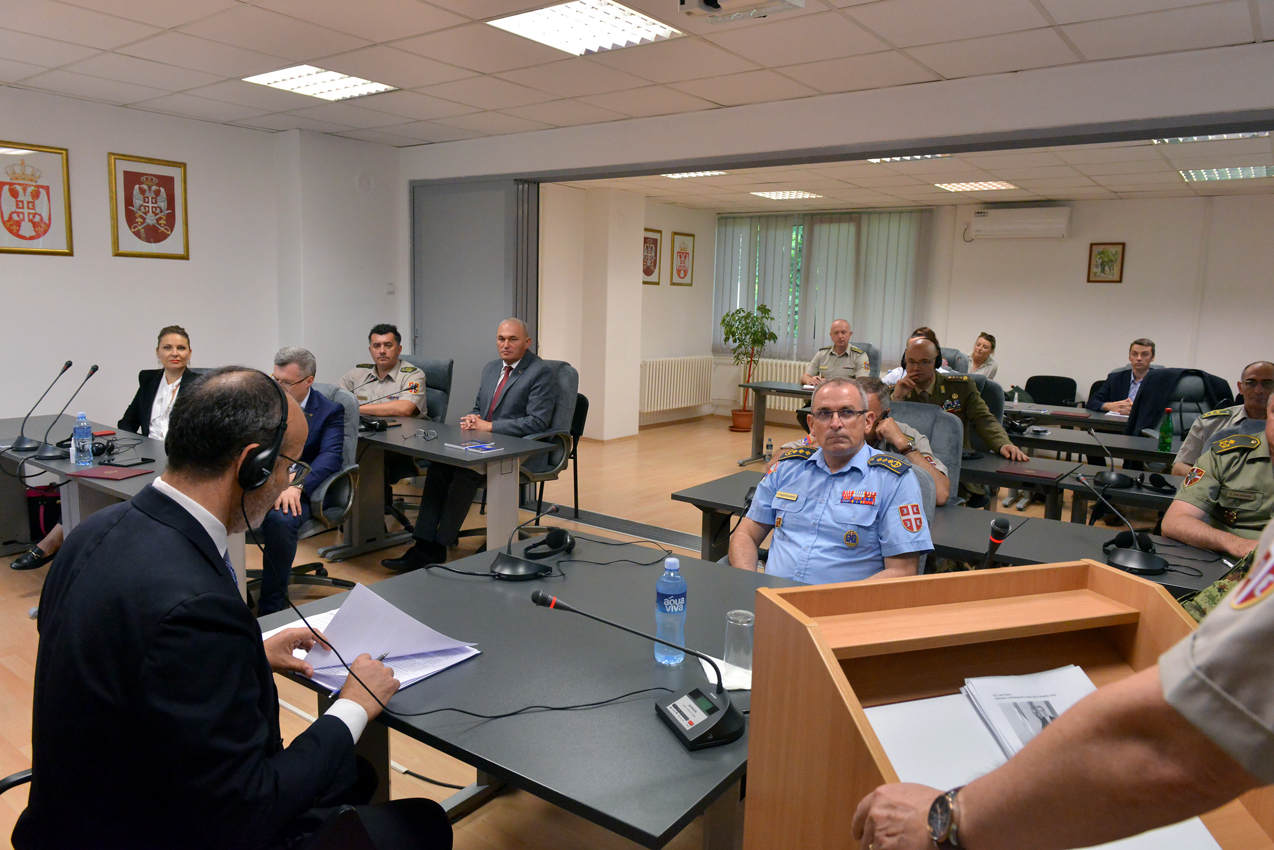 Посета шефа Делегације Европске уније у Републици Србији Сема Фабриција Универзитету одбране