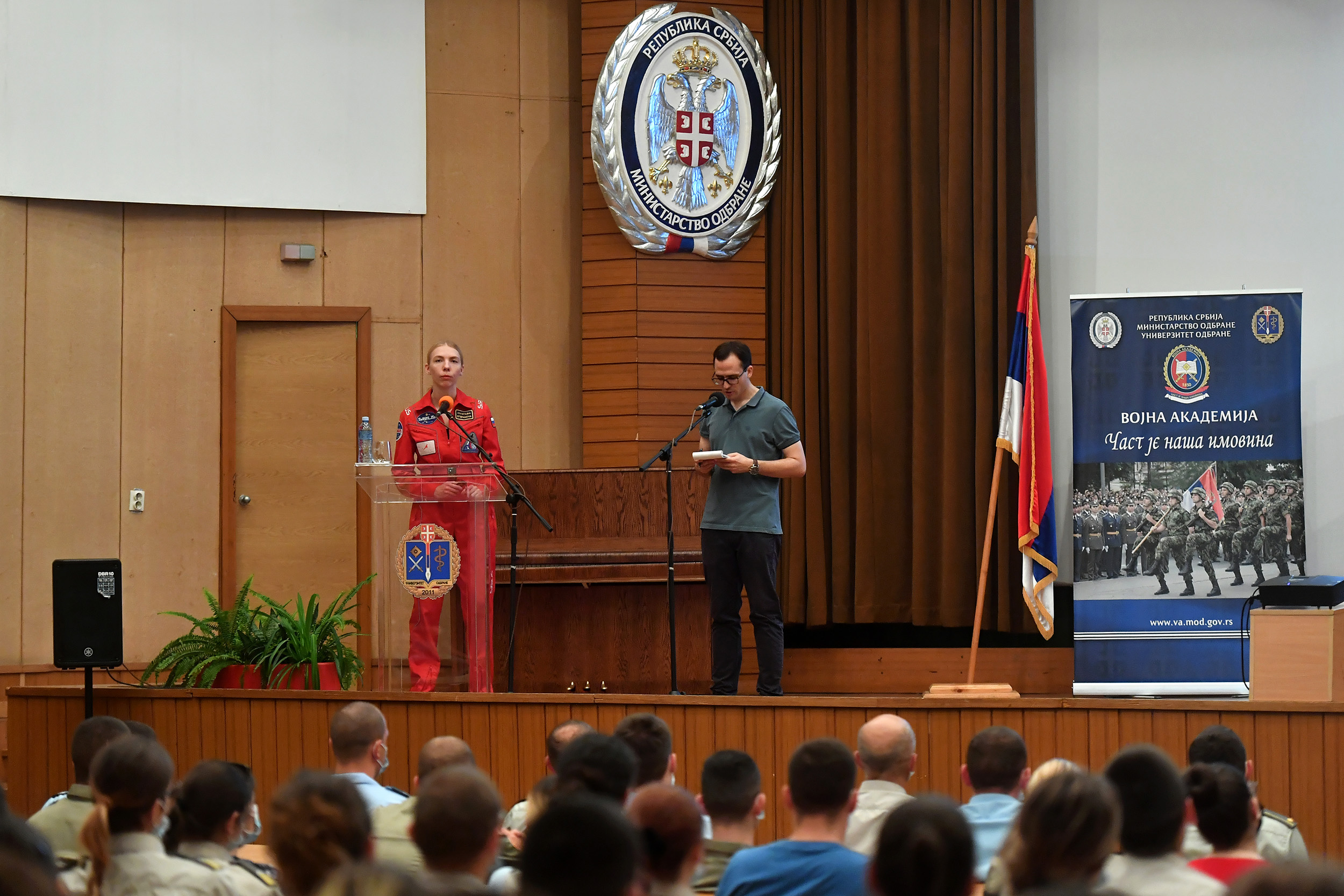 Предавање руских космонаута на Војној академији